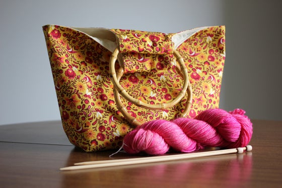 Image of Knitter's Project Bag - birds