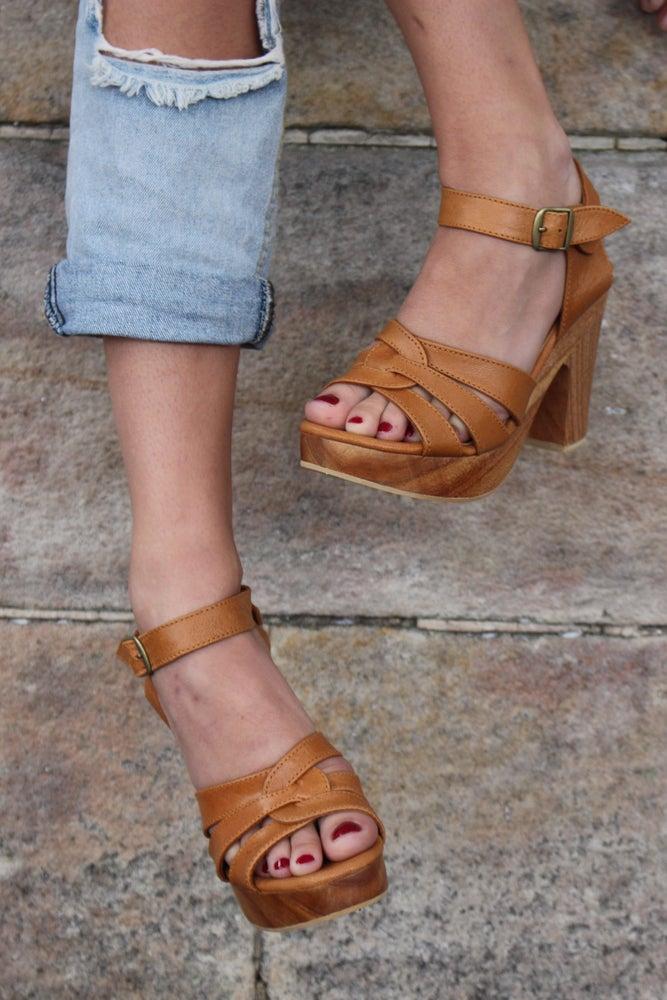 Image of Sage Leather Heel - Tan