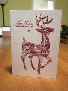 Image of San Francisco Holiday Deer Card - 1 Card / 1 Envelope