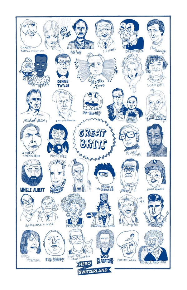 Image of GREAT BRITS / Tea Towel //