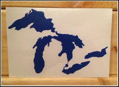 Image of Great Lakes Proud Sticker Royal Blue