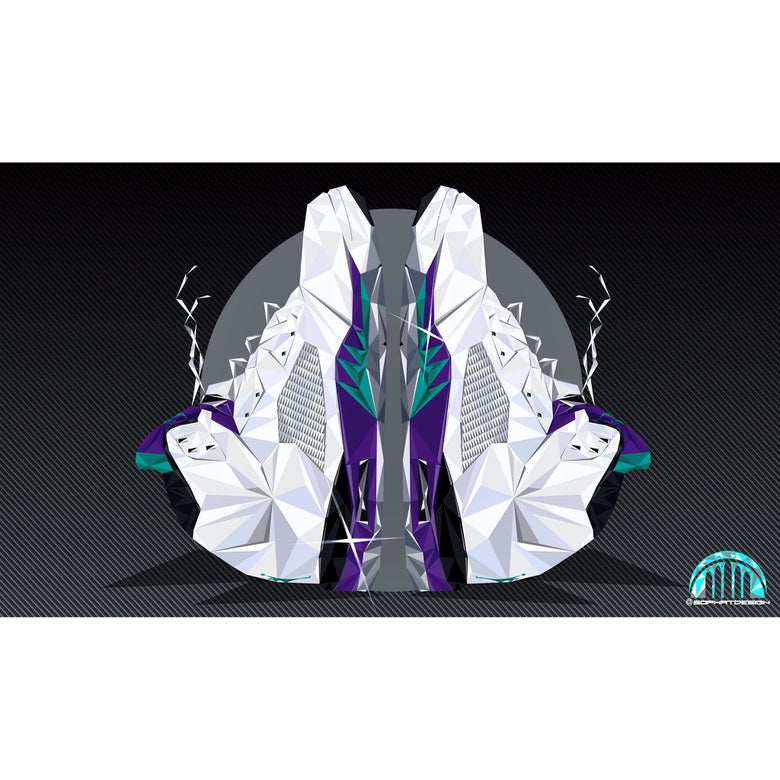 "Image of 24""x36"" Jordan grape 5 digital poster print"