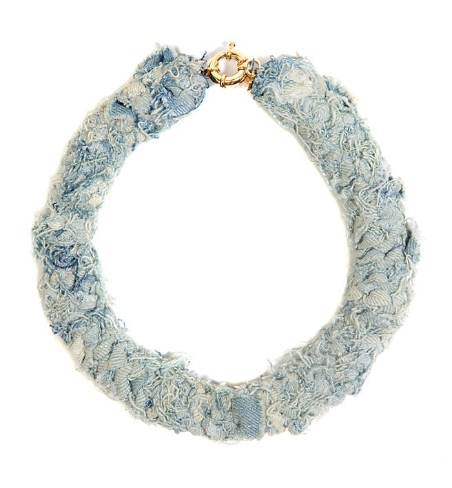 Image of REworked Pale Denim Thick Neckpiece