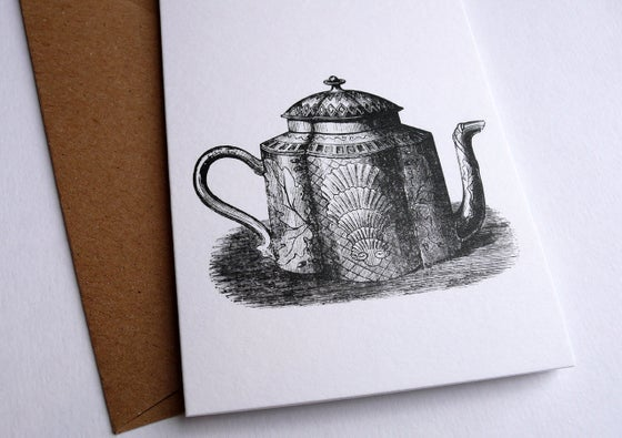 Image of Teapot Greetings Card (A7 size, blank inside)
