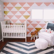 Image of Triangle Pieces Wall Decal - Arrange your own WALL PATTERN