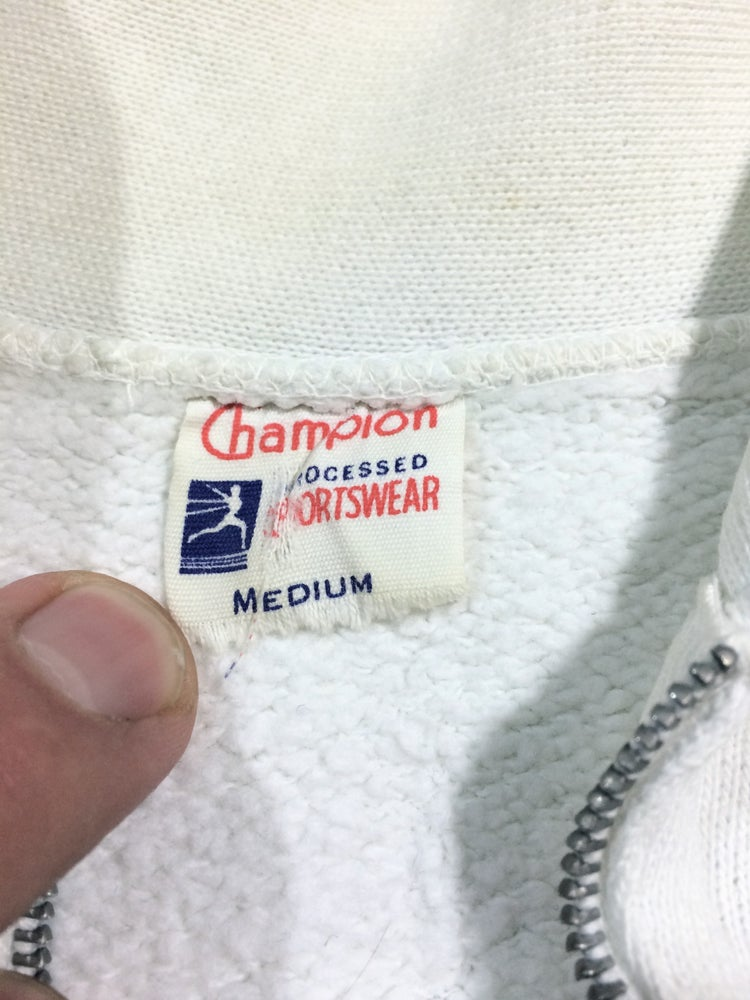 Image of Vintage Champion 3/4 zip collar Clifton sweatshirt