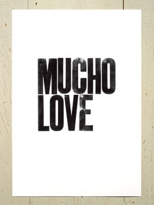 Image of Mucho Love art print - Black