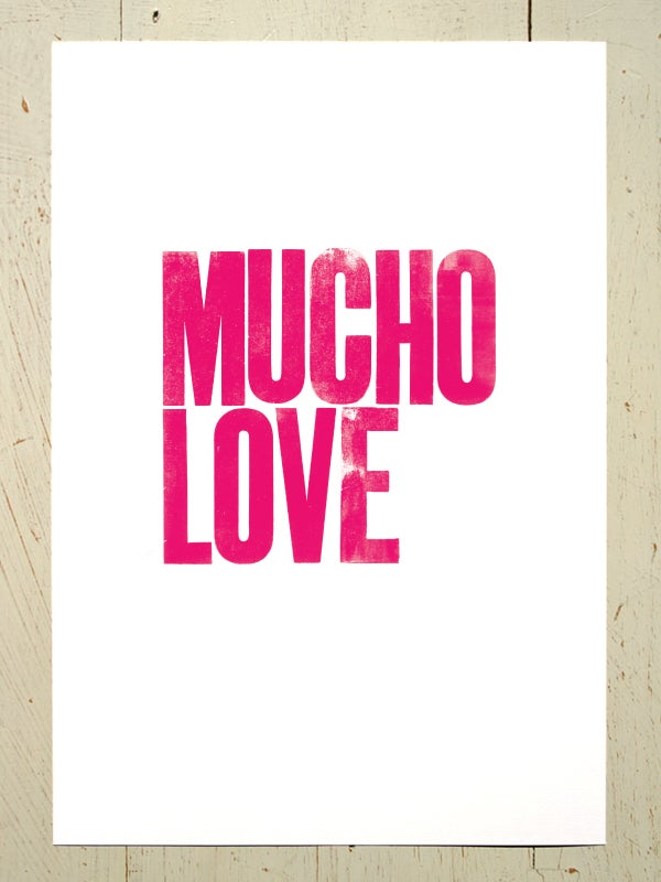 Image of Mucho Love art print - Pink