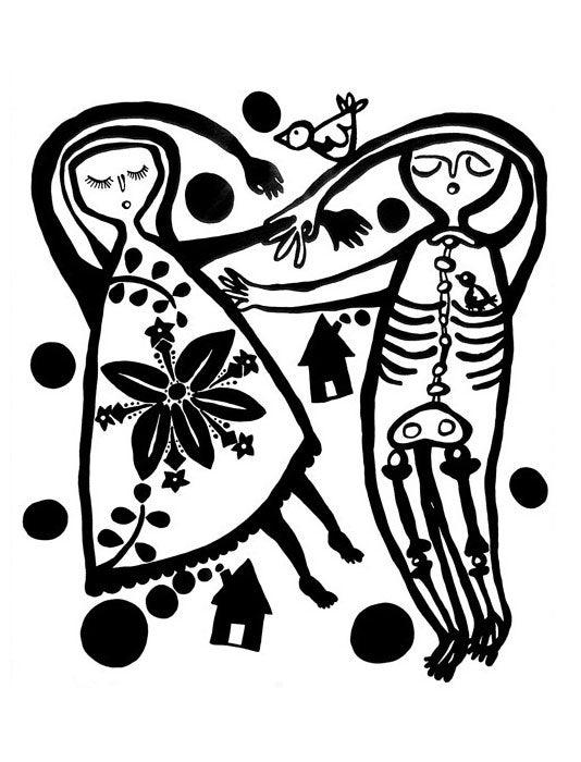 Image of Skeleton Lovers Print
