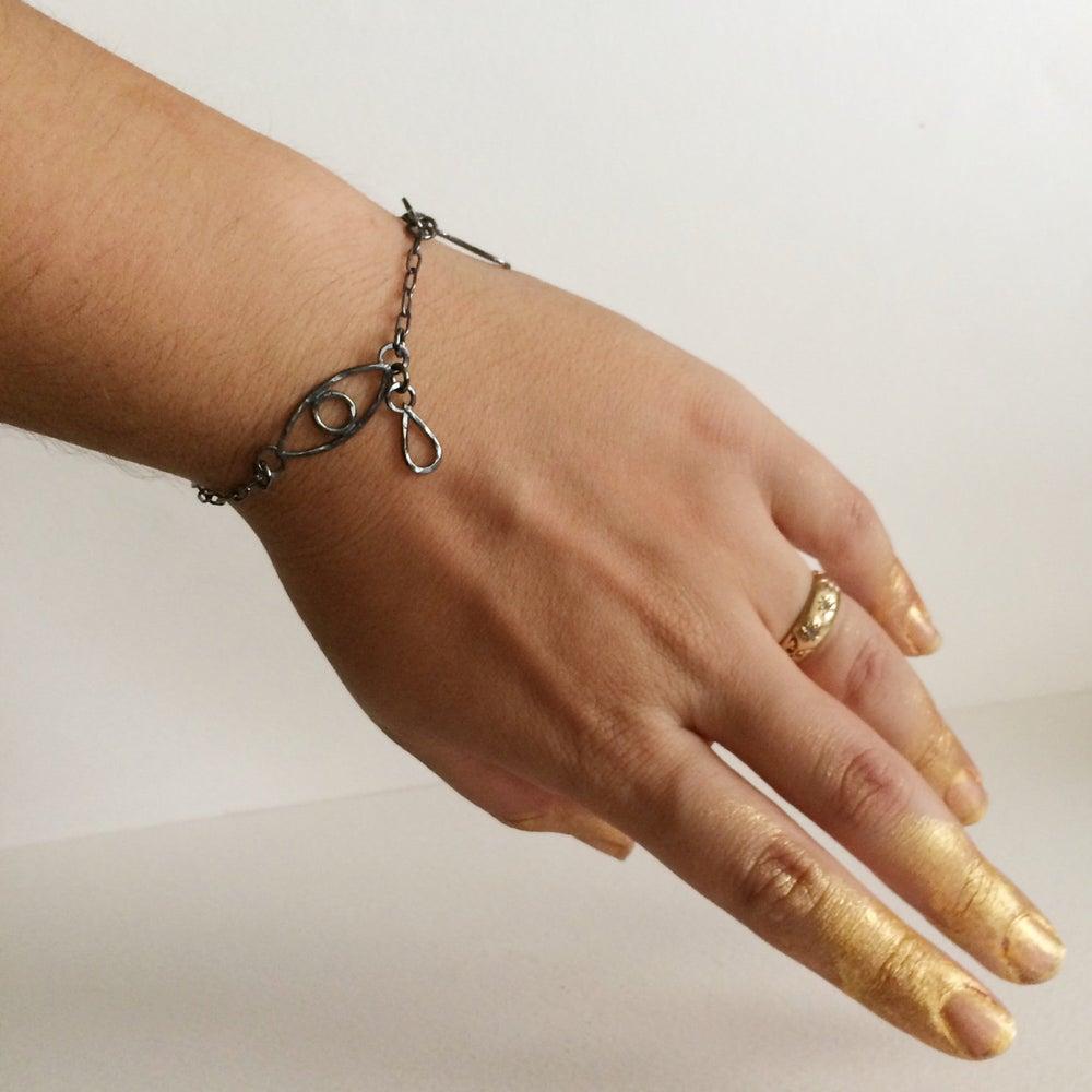 Image of Crying eye bracelet in sterling