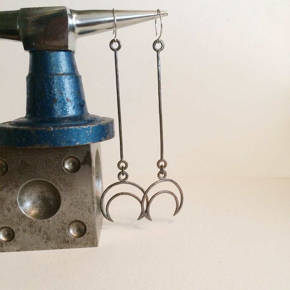 Image of Moon drop earrings IN STOCK