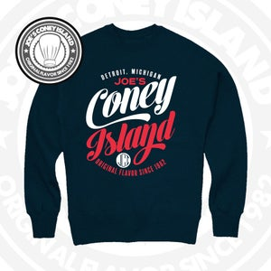 Image of JCI feast CrewNeck - Navy with Red and White Print