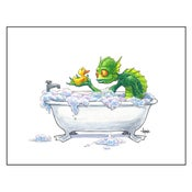 "Image of ""Bathtime for Gil"" Gillman Print"