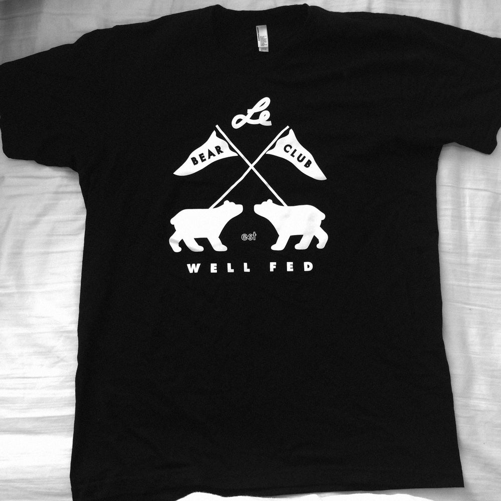Bear club x well fed artist society shirt black bear for Bear river workwear shirts