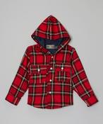 Image of Plaid Hoodie Coat