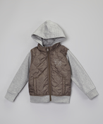 Image of Quilted Puffer Vest Hoodie