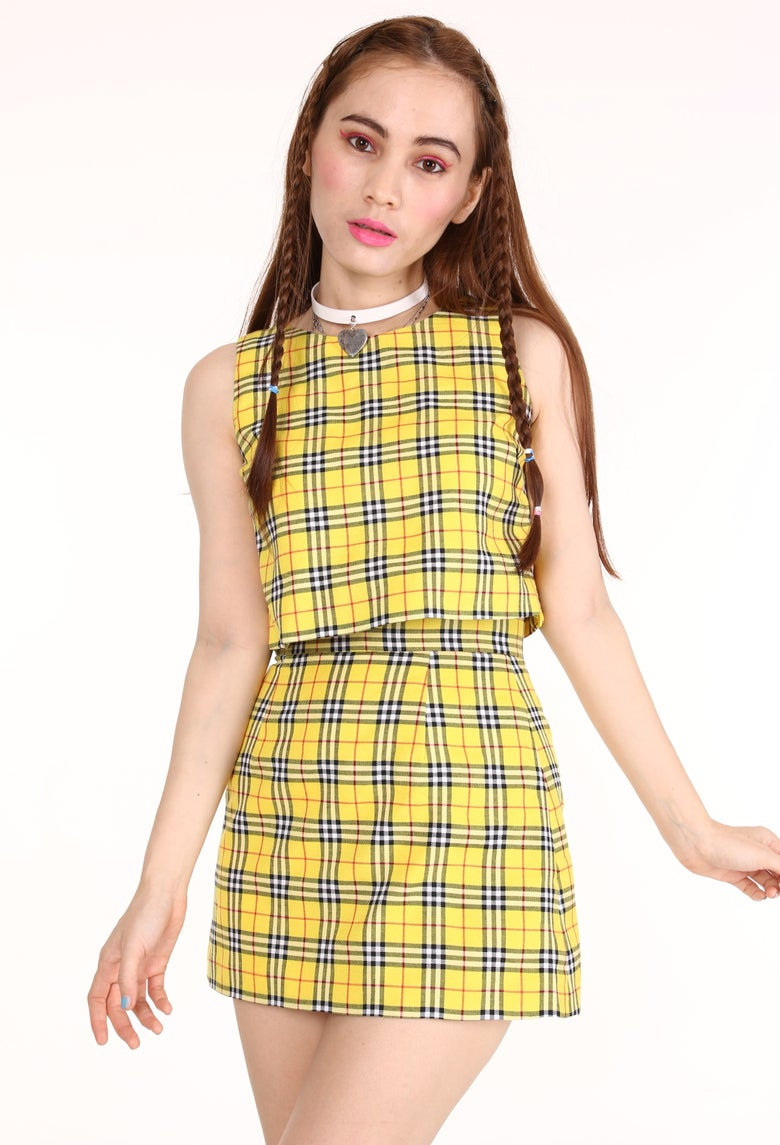 Image of Made To Order - Charli 2 piece set in Yellow Tartan