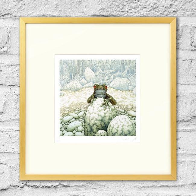 Image of Green-Eeyed Tree Frog - Framed Print