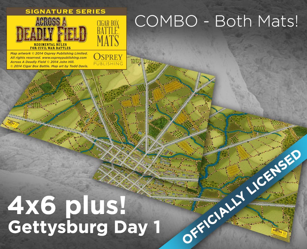 Image of ADF Gettysburg Full First Day Combo -- 2x 4'x6' plus -- #131
