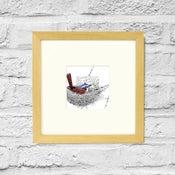 Image of Grey Headed Robin - Framed Print