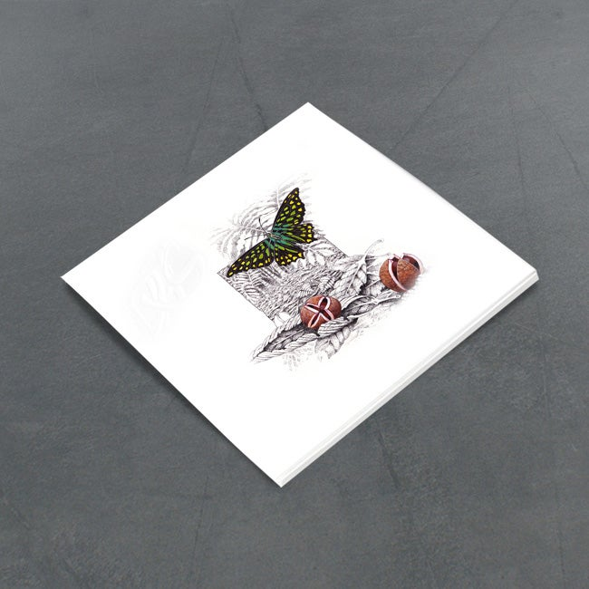 Image of Green Spotted Triangle Butterfly - Miniature