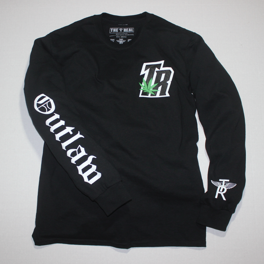 Image of TR Plant x Outlaw Long Sleeve T-Shirt in BLACK