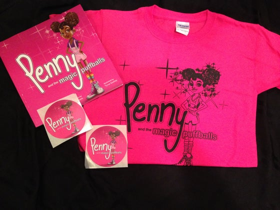 Image of Tee and book bundle - Pink and Black