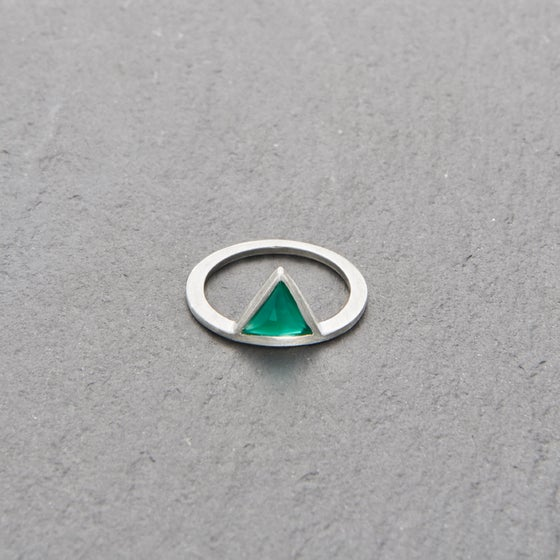 Image of Kandy Green Onyx Ring Silver