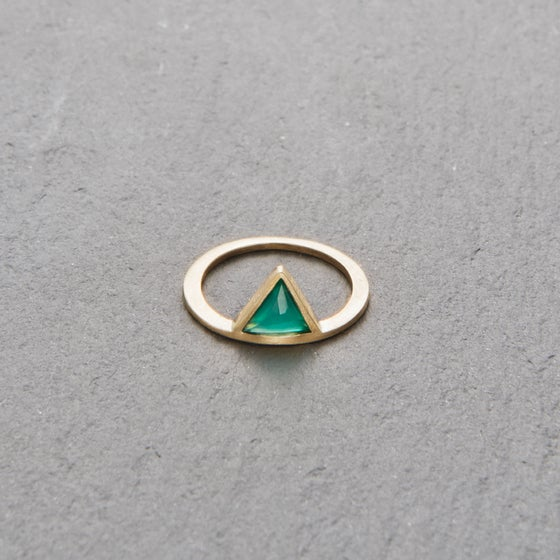 Image of Kandy Green Onyx Ring Gold