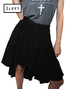 Image of Button Down Fishtail Skirt