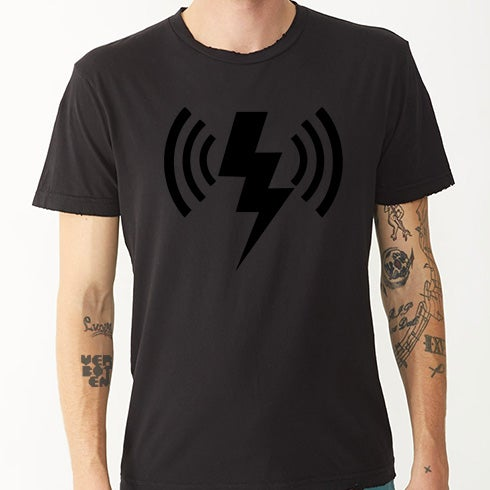 Image of Black Wave Bolt Tee