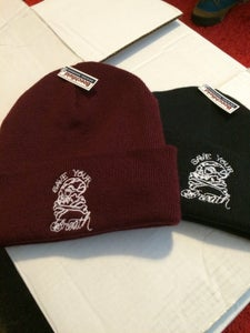 Image of Skull beanie. Black.