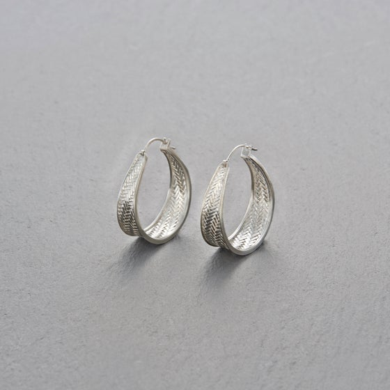 Image of Palmyrah Earrings Silver