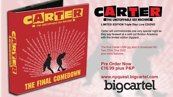 "Image of SALE WAS £16.99 NOW £9.99 Carter USM ""The Final Comedown"" FAREWELL CD/DVD"