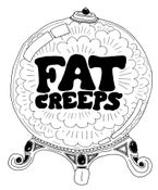 Image of FAT CREEPS WOMEN'S CRYSTAL BALL T SHIRT