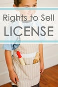 "Image of RIGHTS TO SELL LICENSE - The ""Child's Apron Pattern"" ONLY"