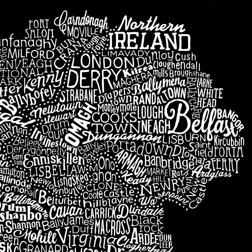 Image of Ireland Type Map (Black, 2014)