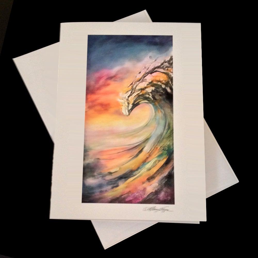 Image of Sunset Peaking 5-Pack Greeting Card Set