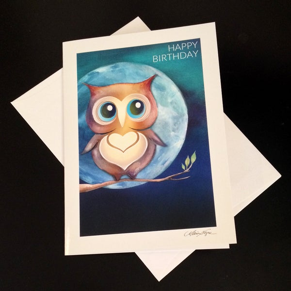 Image of Happy Birthday Owl 5-Pack Greeting Card Set