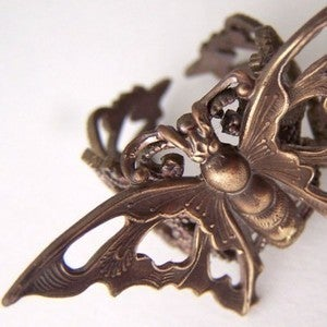 Image of Nouveau Bronze Butterfly Ring