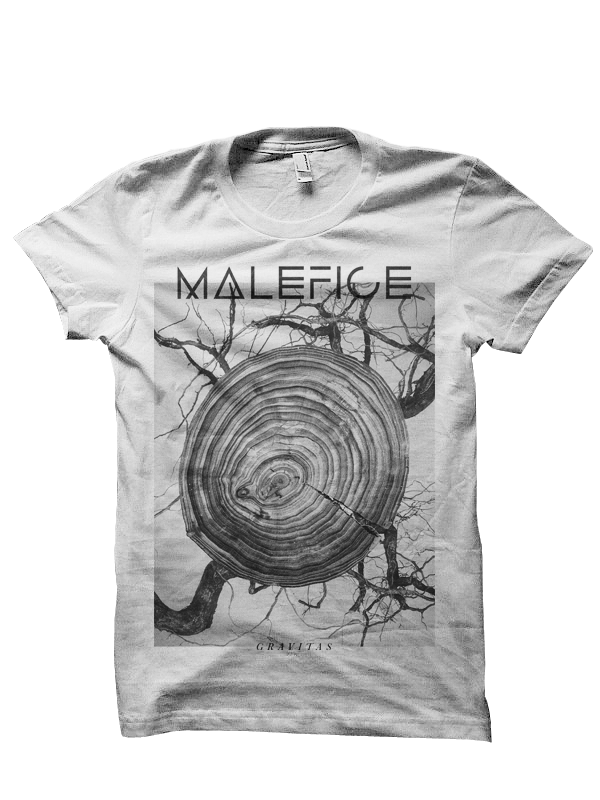 Image of Malefice - 'Gravitas' Tee (White)