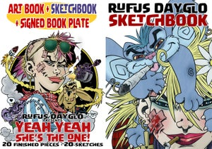 Image of Art Book, Sketchbook, and signed Book plate pack