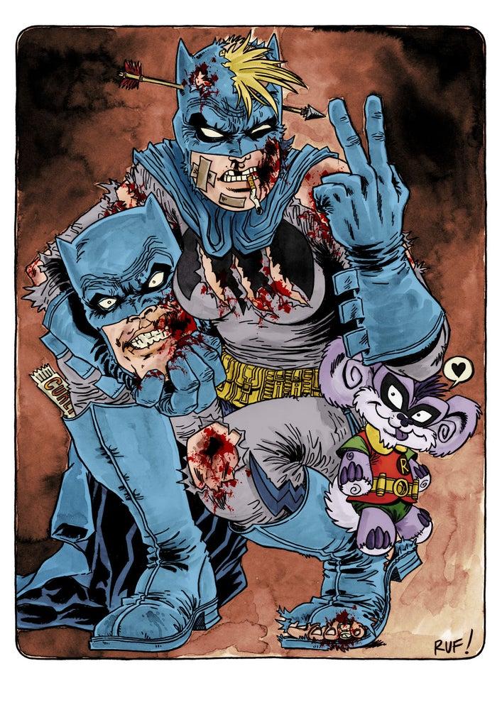 Image of 'Dark Knight' limited edition Giclée art print - Rufus Dayglo art
