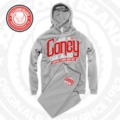 Image of JCI Grey Jogging Suit (Red/White)