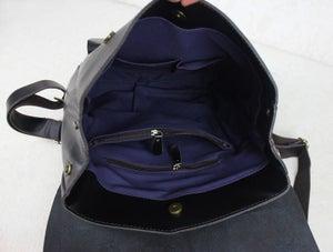 "Image of Handmade Leather Backpack / Leather Satchel / Travel Bag / 17"" Laptop 17"" MacBook Bag (B01-2)"