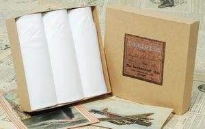 Image of Set of III Pure White men's Handkerchiefs