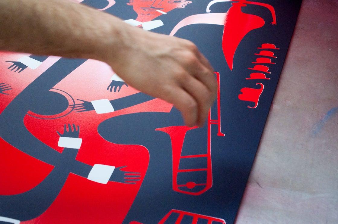 Image of Django / Nearchos Ntaskas / Silkscreen Poster