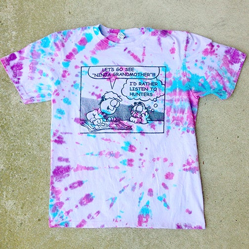 Image of Cat Shirt Tie-dye