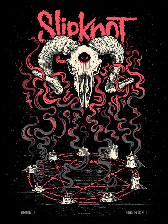 Image of Slipknot Screenprinted Poster