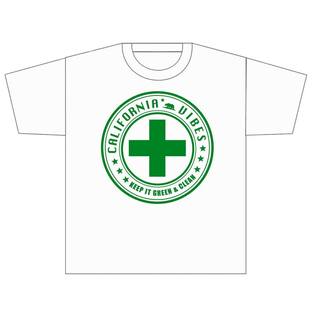 Image of KEEP IT GREEN AND CLEAN WHITE SHIRT